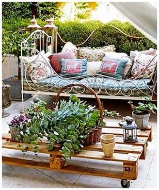 El minihogar - Terraza con palets ...