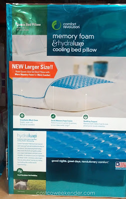Comfort Revolution Memory Foam & Hydraluxe Cooling Bed Pillow for a relaxing night's sleep