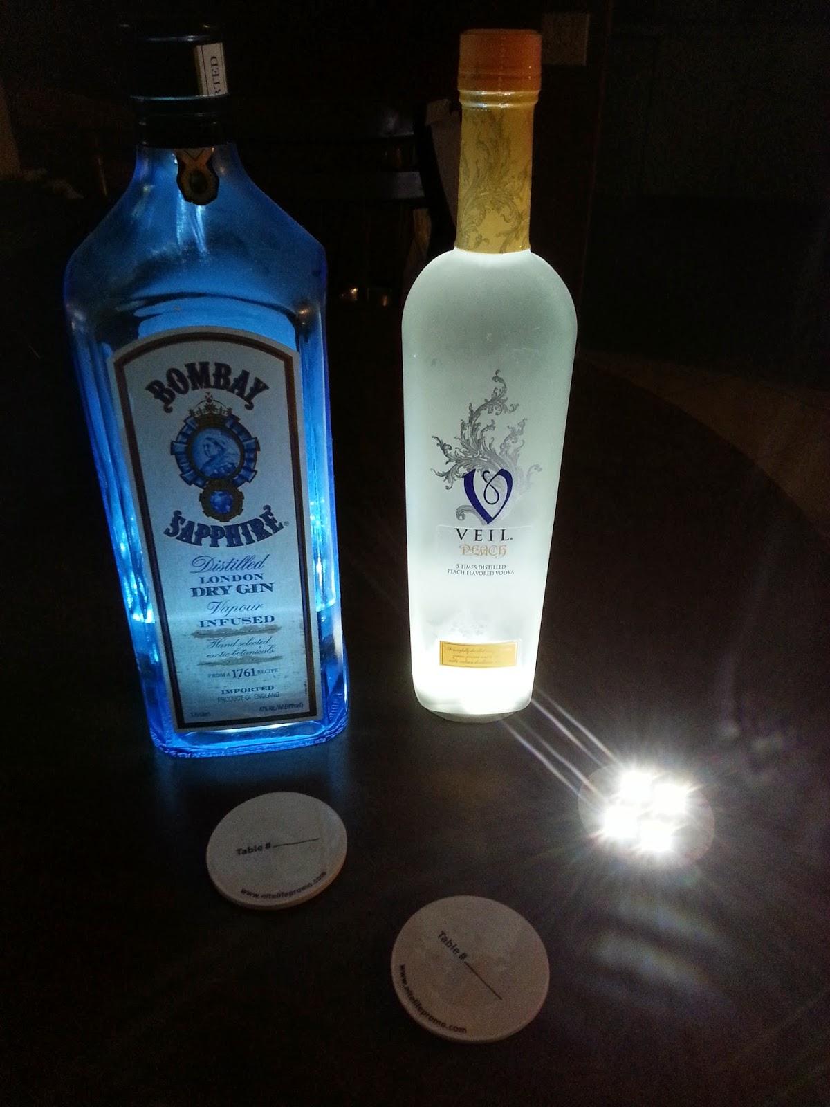 led bottle glow glorifier stick on led bottle coaster lights up belvedere ciroc grey goose bottles to glow