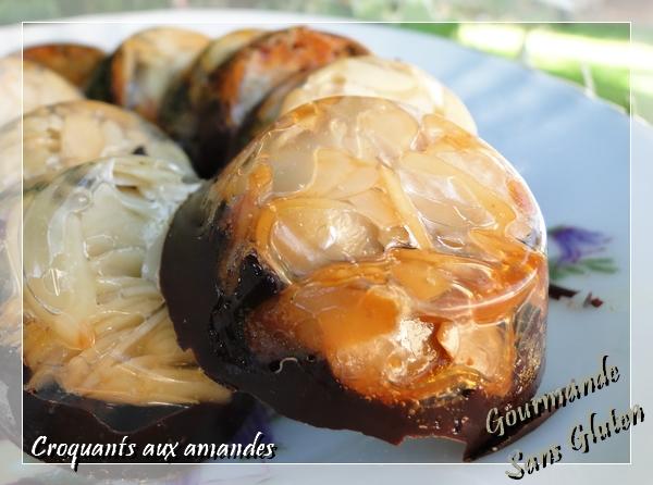 Croquants aux amandes et chocolat
