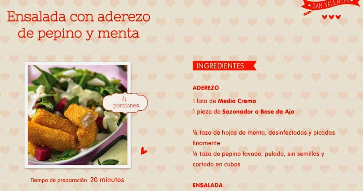 Recetas de comidas para san valentin ensalada con aderezo de pepino y menta como preparar un - Rectas de cocina faciles ...