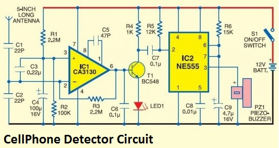 Mobile Phone Detector Circuit Diagram | Cell Phone Detector Circuit Diagram Panel Switch Wiring