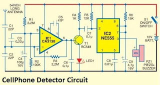 Cell phone detector circuit diagram circuit wiring cell phone detector circuit diagram ccuart Image collections