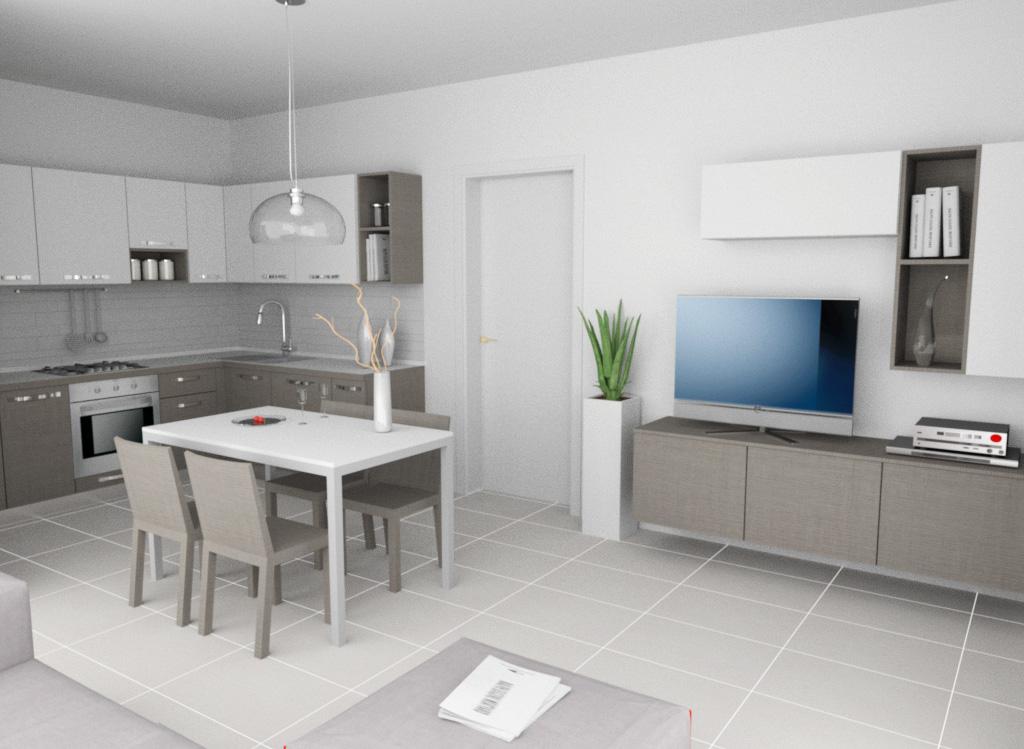 La cabina armadio composizione cucina soggiorno con - Cucine con soggiorno ...