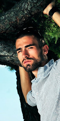 Hairy handsome man Alban Kryeziu from Serbia.