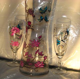 peinture sur support verre cadeaux originaux vitrail et peintures sur verre. Black Bedroom Furniture Sets. Home Design Ideas
