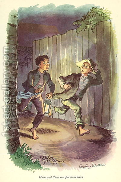 an analysis of the adventures of tom sawyer Aunt polly searches and screams for tom sawyer: she wants to confront her nephew about some missing jam tom, however, is able to outwit his aunt and slips away.