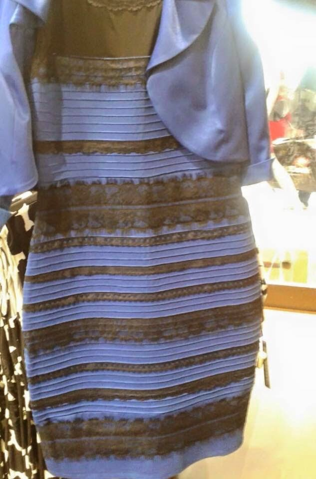 Blue and Black, White and Gold Dress