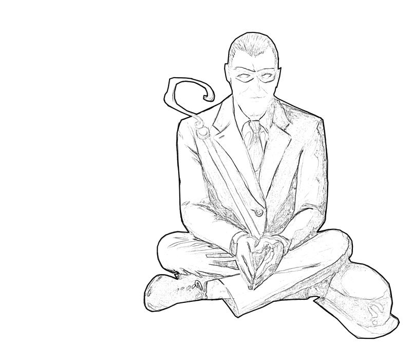 the riddler coloring pages - photo#25