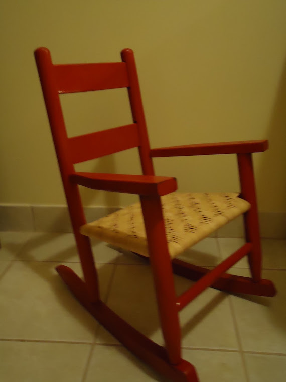 Red rocker for our great niece!