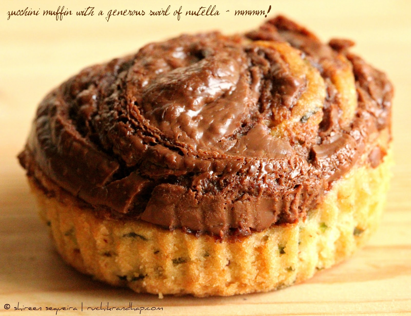 Zucchini Muffins With Nutella Swirl Recipe — Dishmaps