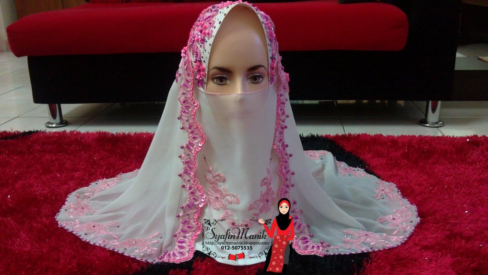 Syafin Manik Tudung Layah Veil Nikah Dewi Shah Alam