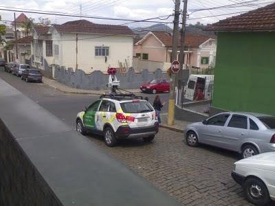 Carro do Google Maps em Itajubá MG