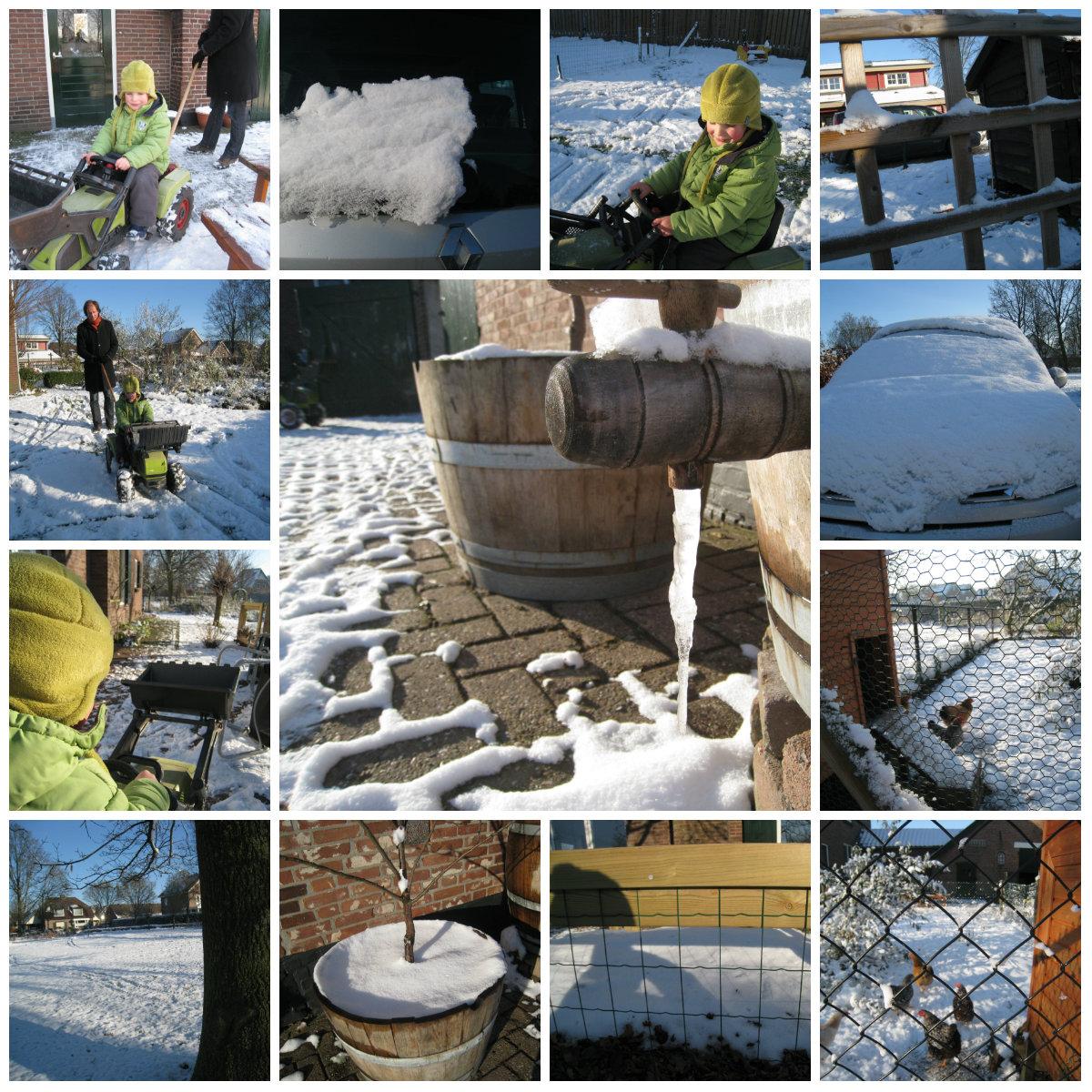 Sneeuwwereld door de ogen van onze 5 jarige knul