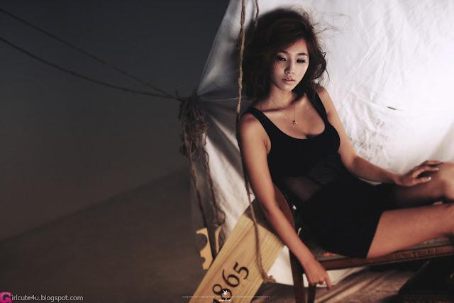 1 Lee Ji Min in Black-very cute asian girl-girlcute4u.blogspot.com