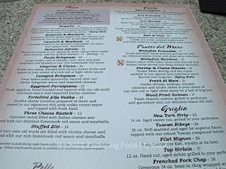 Nicolinni's Menu Back Side Top