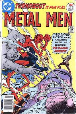 Metal Men v1 #50 dc 1970s bronze age comic book cover art by Walt Simonson