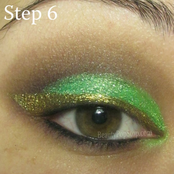 st patrick's day makeup tutorial using mufe aqua eyes 0l