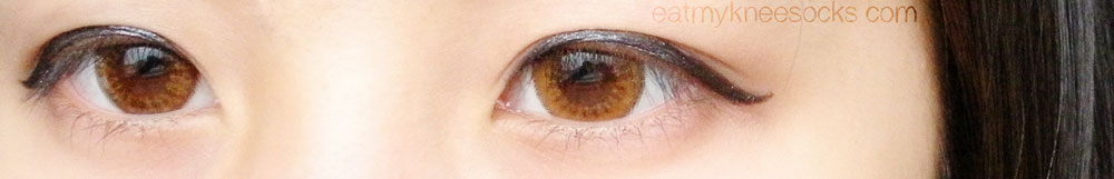 The Bunny Color Brown circle lenses from Klenspop give a cute, ulzzang-like effect.