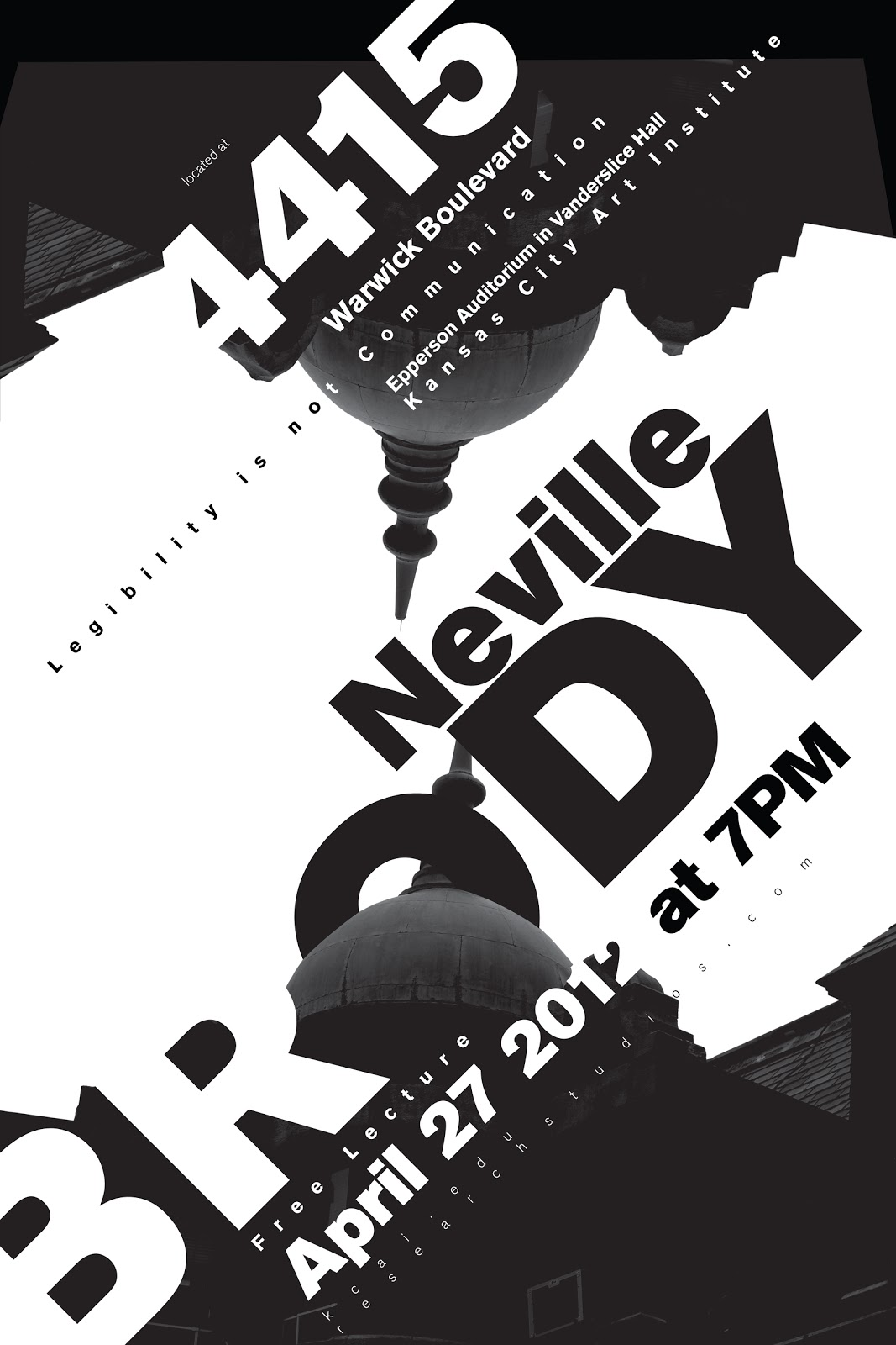 Ido Design Neville Brody Lecture Poster Final