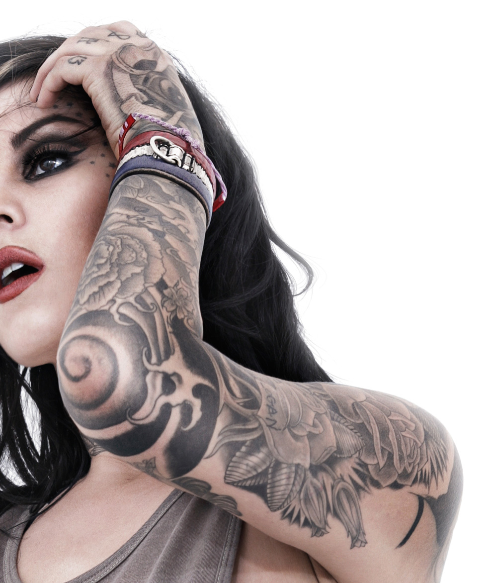 girls crushes tattoo sleeve kat von d tattoo artists inspiration pictures face tattoo a. Black Bedroom Furniture Sets. Home Design Ideas