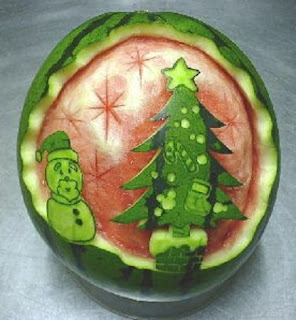 Frutas para Navidad, Decoración con Sandía