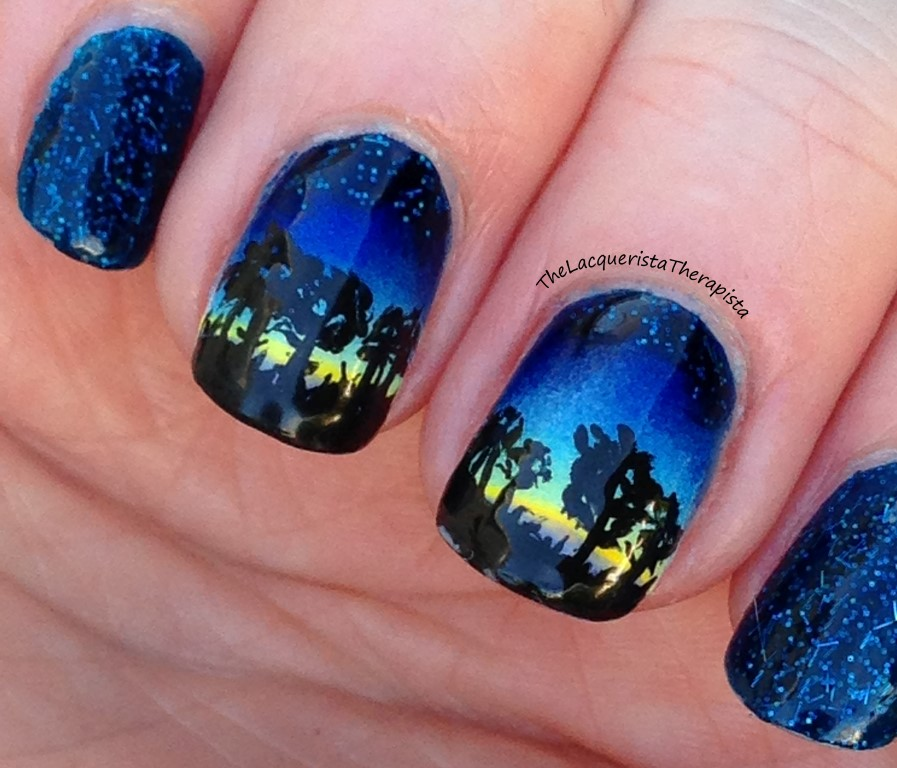 Starry Sky Gradient Nails Tutorial
