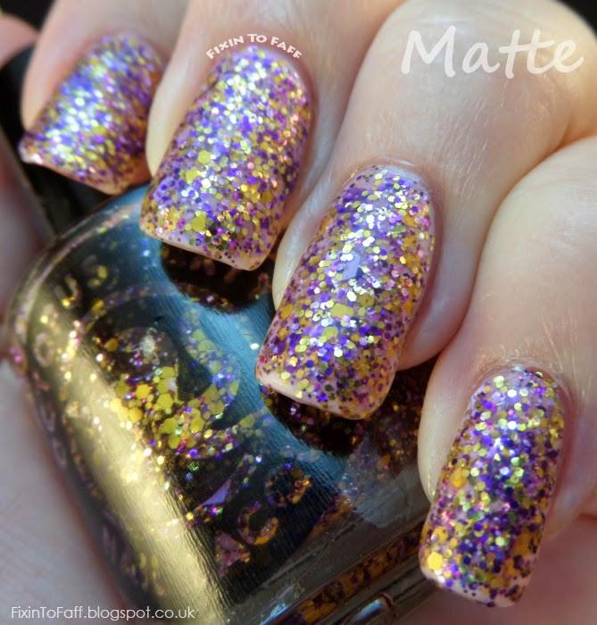 Octopus Party Nail Lacquer Ametrine Hour swatch matte