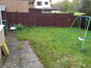 Before back garden makeover