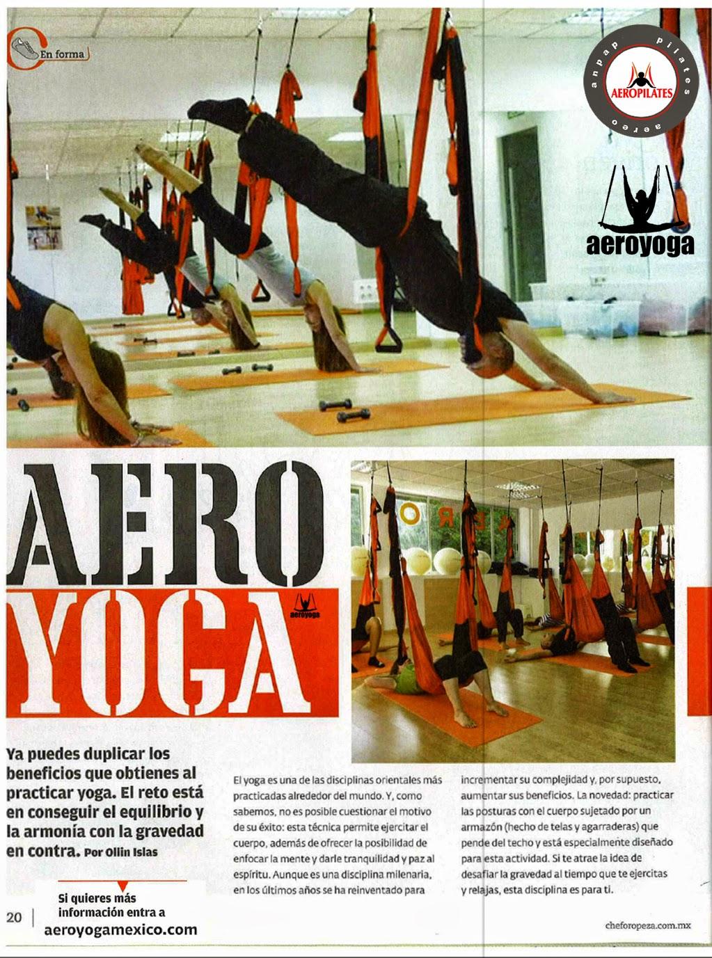 AEROYOGA® EN COLUMPIO AERO YOGA AEREO PRENSA Y TV, TENDENCIAS, REPORTAJES, ARTICULOS