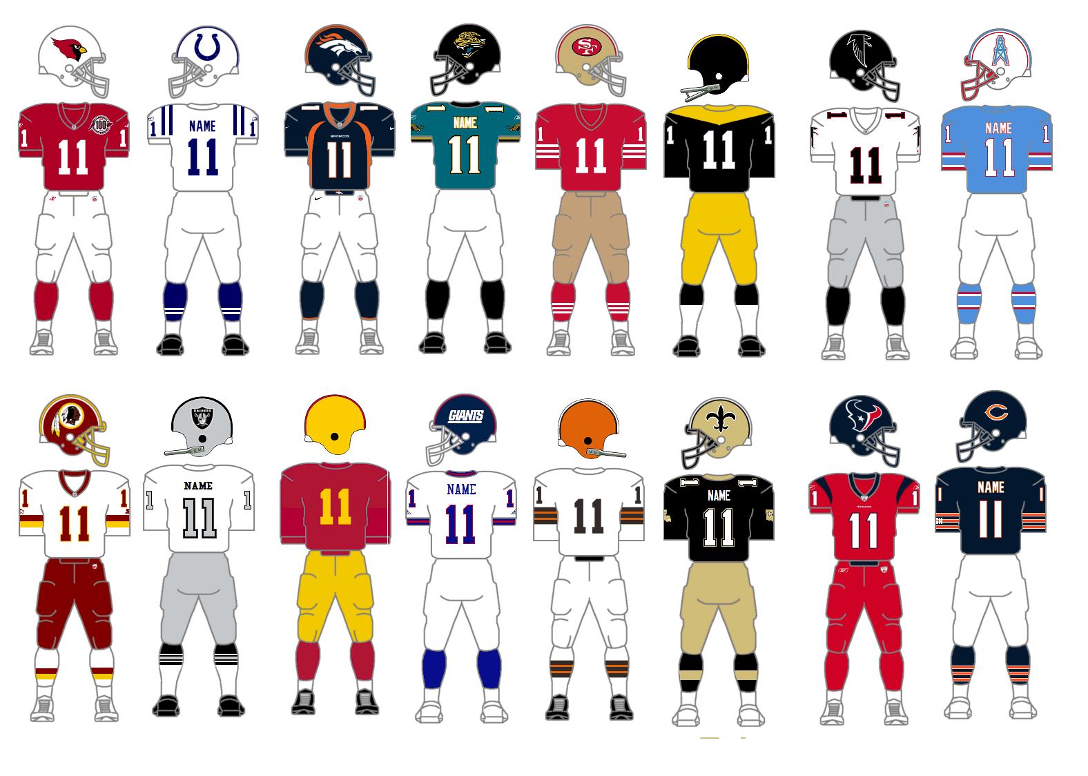 The Gridiron Uniform Database: Best NFL Uniform Tournament, Part 5