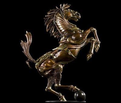 تماثيل ابداعية من النحاس والخشب-الفنون-منتهى