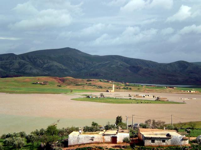 Paisaje verde en Marruecos