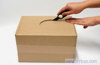 DIY toys from paper boxes