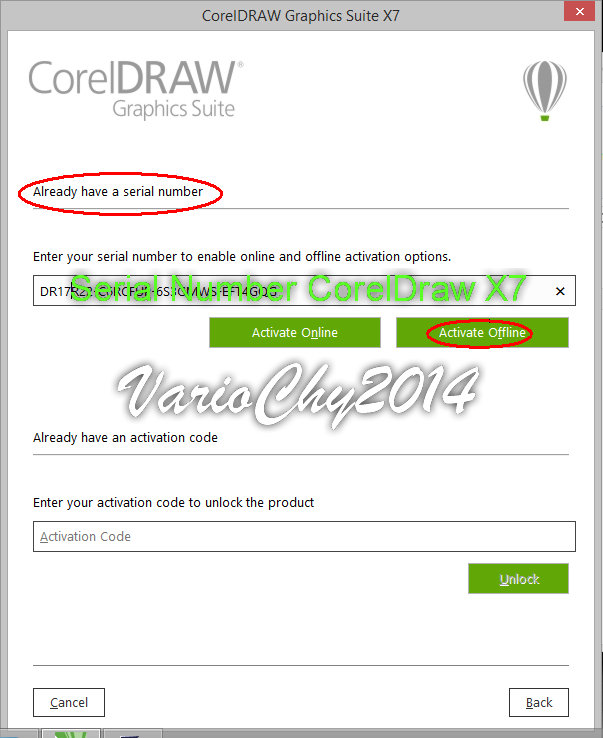 serial number dan activation code coreldraw x7 64 bit