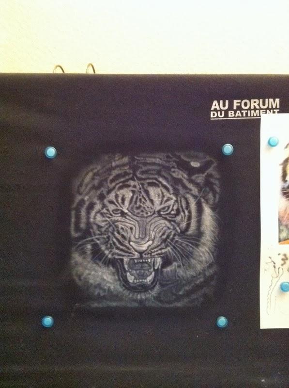 photo(3) tuto et pas a pas tigre sur teeshirt peinture aérographe