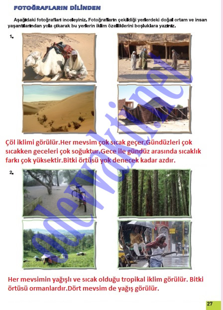 Sosyal bilgiler 6 sınıf çalışma kitabı cevapları sayfa 26 meb