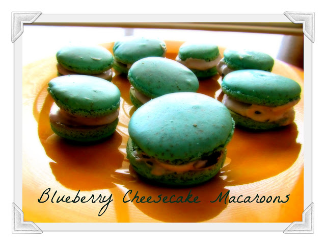 Blueberry Almond Macaroons Recipe — Dishmaps