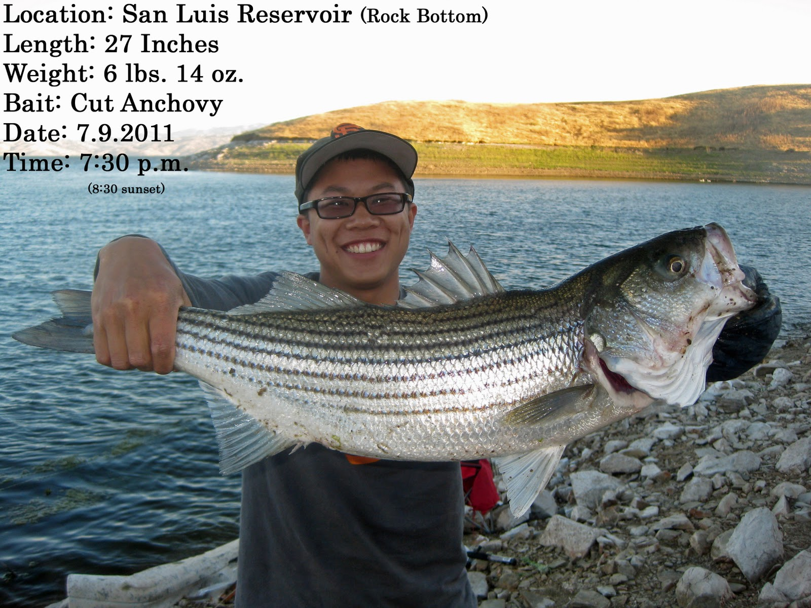 Awayken my heart fishing 2011 undergraduate degree 3 for San luis reservoir fishing