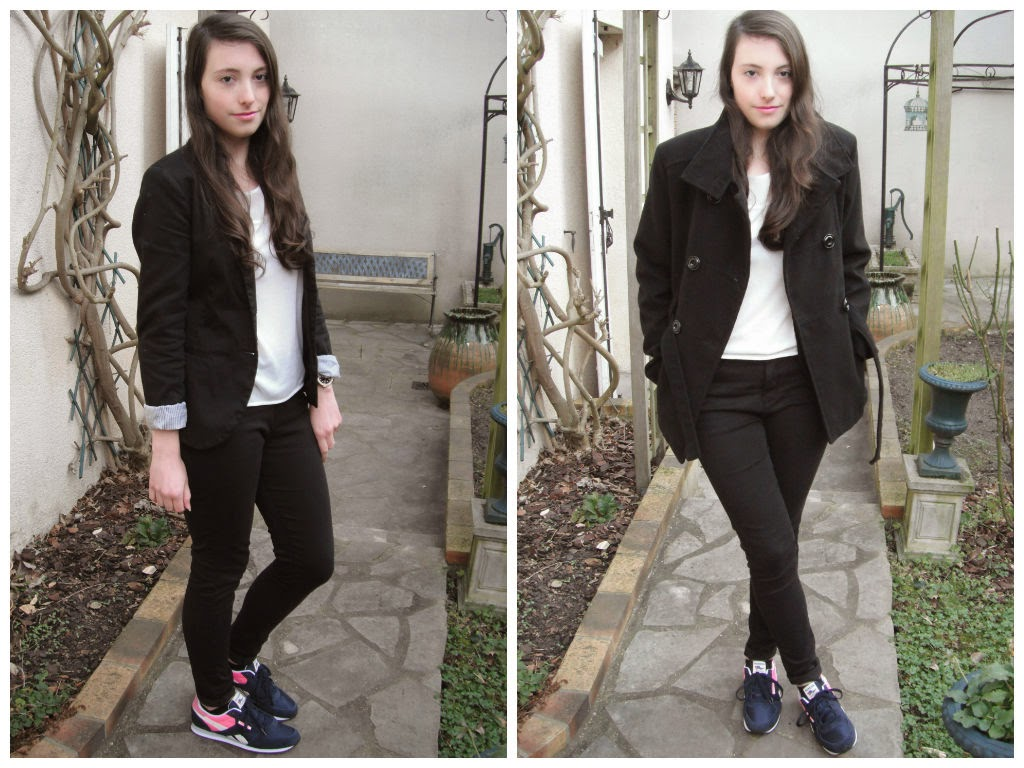 Lookbook hiver 2015 tenue 3 : blazer et baskets