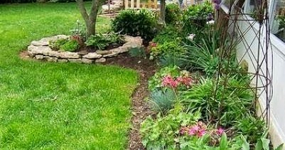 flower bed ideas   fence  including  stones