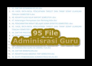 95 file Administrasi Guru lengkap