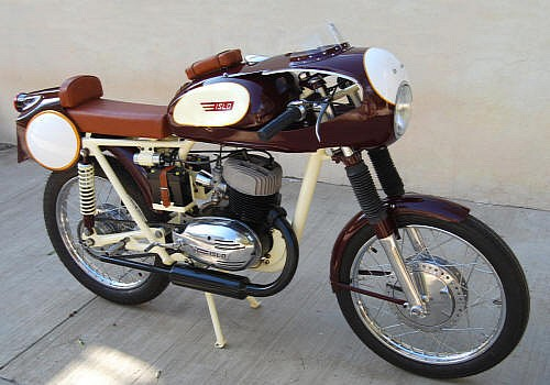 cafe racer | 1958 Islo Racer | Custom 1958 Islo Racing bike | vintage motorcycles | Vintage motorcycles sale | Isidoro Lopez  Isidoro Lopez was a Mexican manufacturer of small-displacement motorcycle