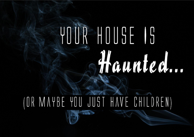 Your House Is Haunted... Or Maybe You Just Have Children  -- Paranormal activity would explain so much at my house: all the unexplained noises, things disappearing all the time... I'll bet it could make sense of a lot of things happening at your house, too.  {posted @ Unremarkable Files}