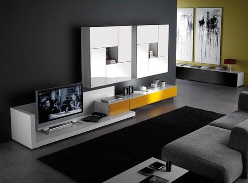S arquitetura e planejamento decora o sala de estar for Minimalismo moderno