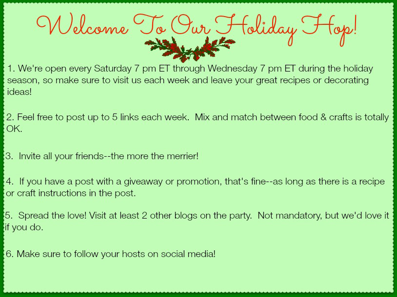 Midnight Baker's Holiday Blog Hop #linkparty #recipes #crafts