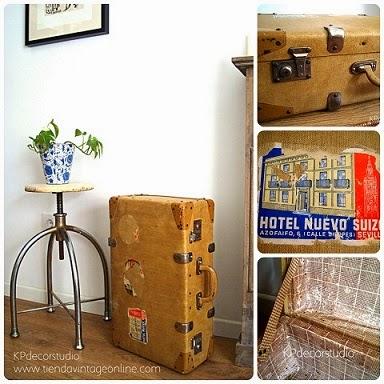 Comprar maletas vintage para decoración y atrezzos de escenarios y escaparates.