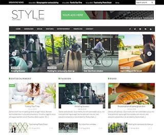 Style Magazine - Template Responive Bergaya Majalah Gratis