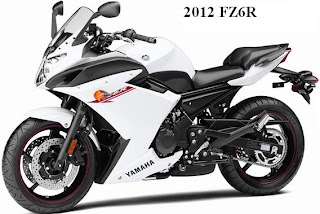 2012 Yamaha FZ6R white color
