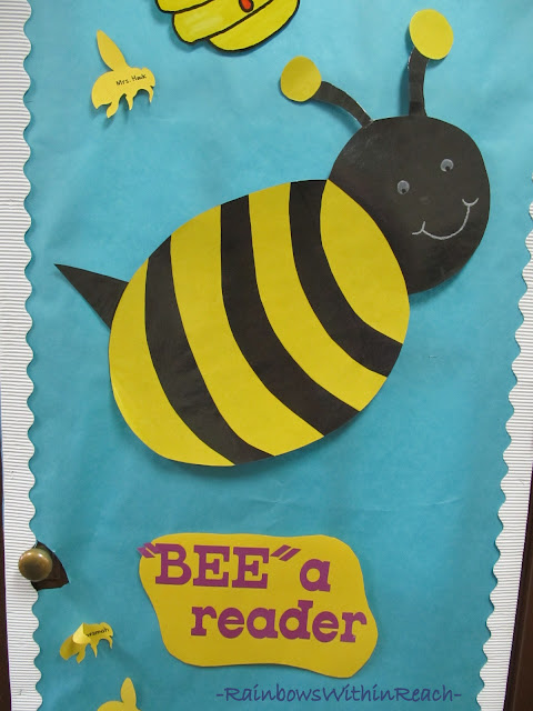 "photo of: Classroom Door Decoration: ""Bee"" a Reader"